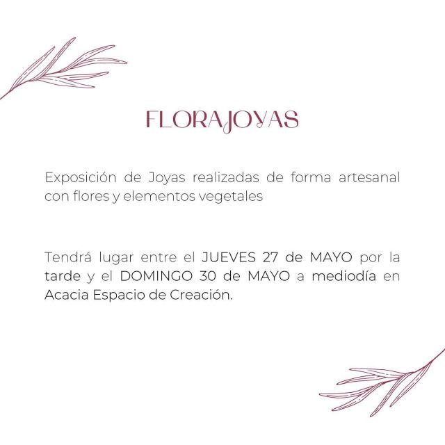 ✨FLORAJOYAS✨  Primera Exposición de Joyas florales en Acacia Espacio de Creación 💍🌸  Las piezas se expondrán en el escaparate y a lo largo de la floristería entre el Jueves día 27 por la tarde y el Domingo día 30 de Mayo a mediodía.  Se sorteará un collar floral entre las personas asistentes.  Os invitamos a recorrer este espacio de Arte Floral 🤍🌿 . . #florajoyas #joyas #joyasartesanales #joyasflorales #diseño #botanical #botanicalcouture #evento #exposicion #artefloral #arte #flores #vegetal #artesania #hechoamano #organico #floristeria #floristeriaacacia #tafalla #navarra